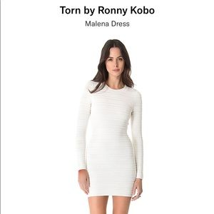 Torn by Ronny Kobo malena white dress